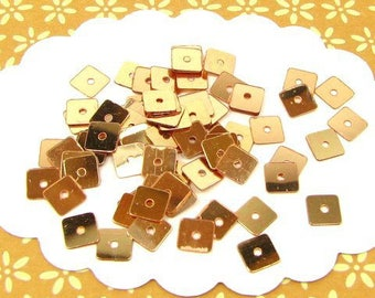 square sequins 5 mm Golden TG33 1200 sequins