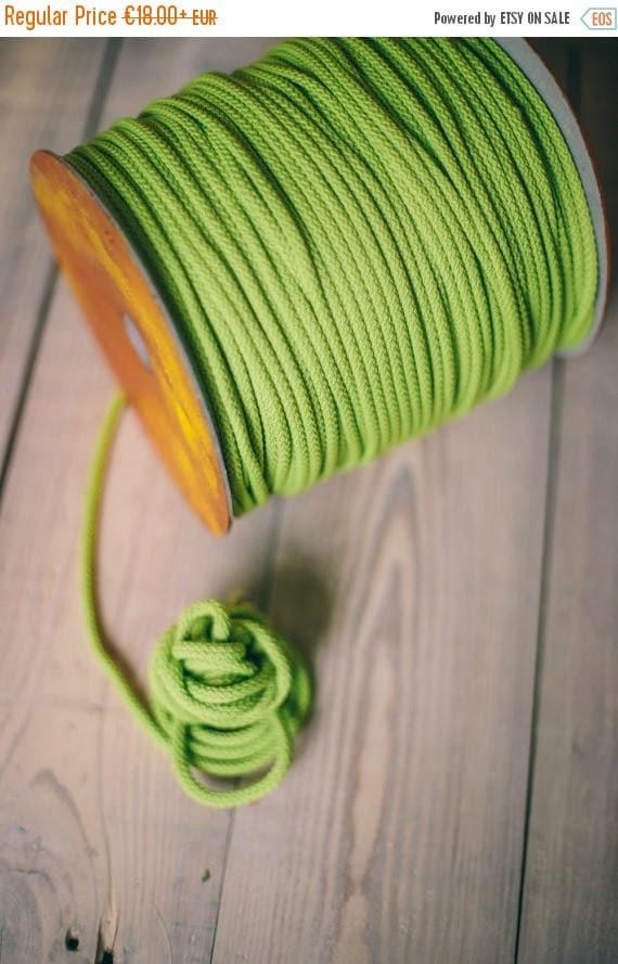 SALE 30 % LIGHT GREEN crochet rope, makramee garn, macrame rope, Diy projects, craft supplies, craft yarn, rope yarn, polyester cord. #39
