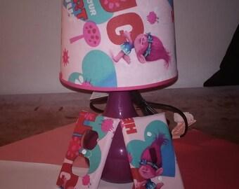 Pink Trolls Lamp set