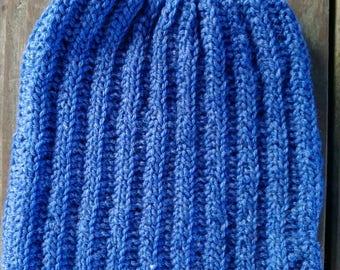 Blue pussy hat, pussyhat, women's march hat, wool blend, acrylic, blue heather, unity, resist, blue pussyhat, feminism