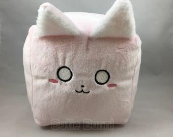 Cube Cutie Kitty Kawaii Soft Plushie