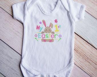 1st Easter Bodysuit, Easter Shirt Baby Girl, First Easter Shirt, Easter Bunny Shirt, Spring Shirt, Easter Bunny Bodysuit, Spring Shirt