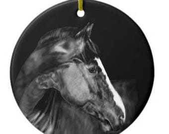 Chestnut Horse Ornament Customizable With Name!