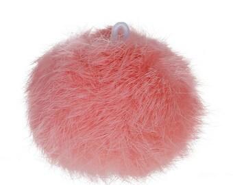 1 x large tassel Angora - pink peach