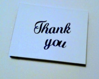 Blue glitter Thank you cards (pack of 10)