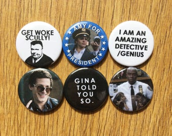 Brooklyn Nine-Nine badges pins buttons