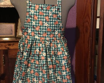 Country Bacon and Eggs Girls Apron size 7-8