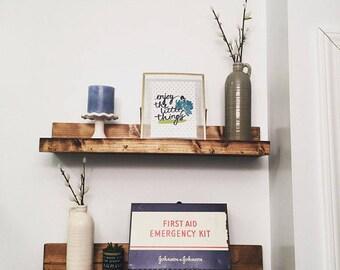 Picture Ledge Shelf, Ledge Shelf, Floating Shelves, Wall Shelf, , Gallery Shelf, Nursery, Bookshelf