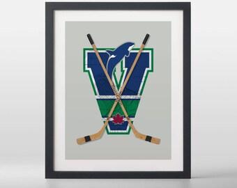 Vancouver Canucks-inspired Hockey Art Print