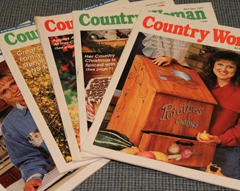 5 - Country Woman Magazines ~ Back Issues ~ Decorating ~ Home Cooking Recipes ~ Poetry ~ Beautiful Photos ~  Vintage Collectible 1997