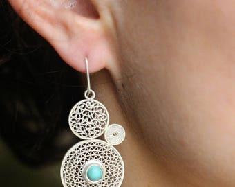 """""""More filigree"""" earrings"""