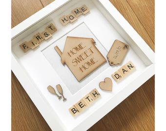 New home gift, new house, first home present, personalised gift, home sweet home, gift for home owner