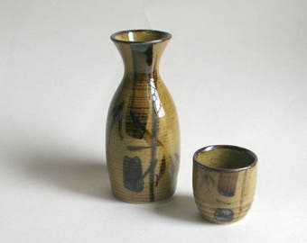 SALE! Japanese Sake set, sake bottle and sake cup, Choshi&choko