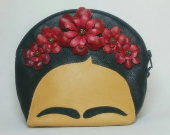 Frida Purse, Handbag, Leather Purse, Made to Order, Mexican Artist, Fridamania Flower Crown