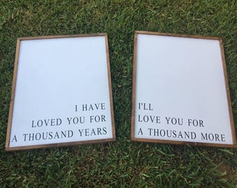 Love Wood Sign Duo