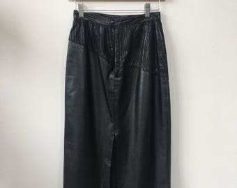 1980's Women's Vintage Leather Skirt