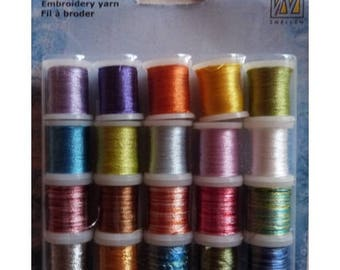 Set of 20 spools of thread to embroider cards lot 003