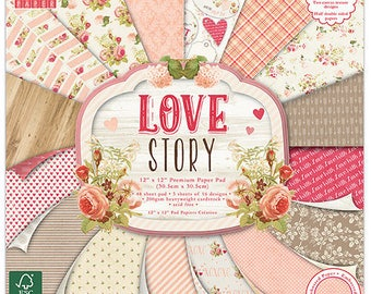"16 papers ""First Edition"" two pockets 30.5 cm LOVE STORY"