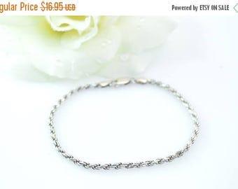 HUGE Sale Rope Chain Bracelet Sterling Silver 5.4g