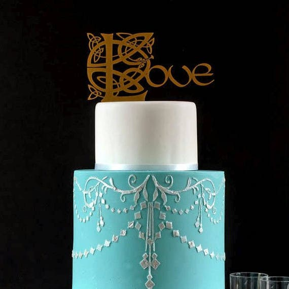 Gold Celtic Wedding Cake Topper Irish Love Romantic Lord Of The Rings