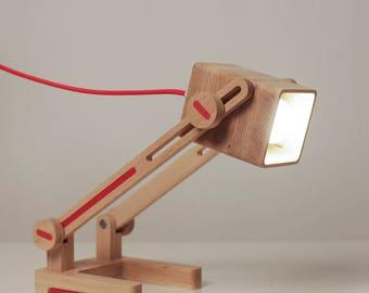Desk lamp/Transformer lamp/Wood lamp