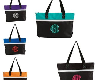 Flash Sale Monogrammed Zippered Tote