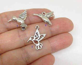 6pcs Hummingbird charm, bird Charm, Humming Bird Charm