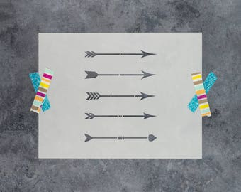 Arrows Stencil - Reusable DIY Craft Stencils of an Arrow