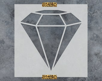 Diamond Stencil - Reusable DIY Craft Stencils of a Diamond