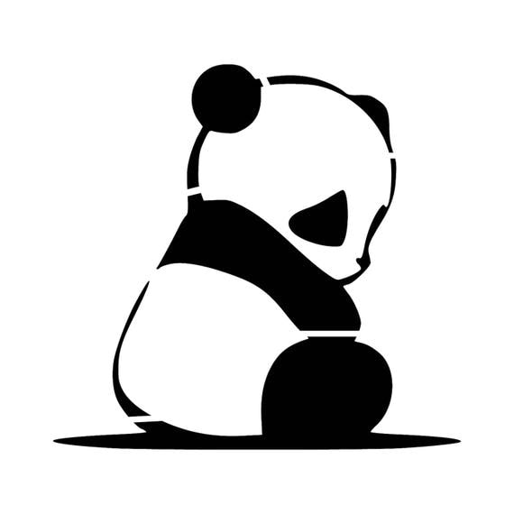 Panda Stencil Reusable Diy Craft Stencils Of A Panda