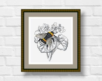 Humble-bee Cross Stitch Pattern