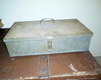box, vintage metal container.