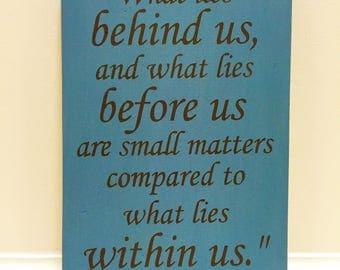 What lies within us / Rslph Waldo Emerson / graduation gift