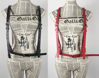Leather harness   body harness   handmade harness genuine leather   stylish leather Belt   women harness   chest harness