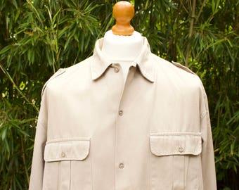 Vintage Long Sleeve Military Shirt   Size - Extra Large