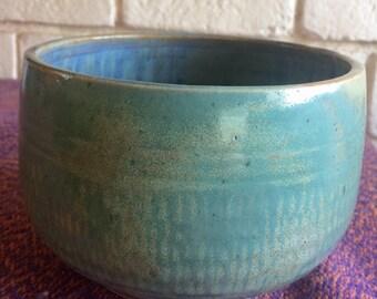 Aquamarine Ceramic Bowl, Handmade Pottery bowl, Handmade Ceramic Bowl