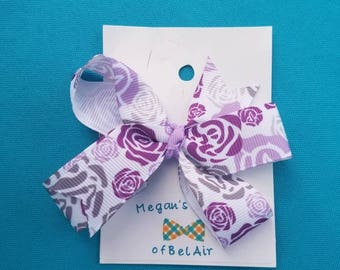 Purple Rose bow