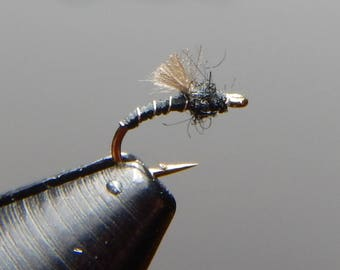 Three (3) CDC Midge emerger flies, size 20-26, for fly fishing
