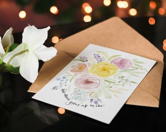 He Has Never Given Up on Me Christian Greeting Cards, Note Cards, Thank You Cards,Blank Cards, Blank Greeting Cards, Birthday Greeting Cards