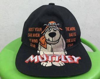 Vintage 90s Wacky Races Dog Snapback Hat Free Shipping Hanna Barbera Hat Cartoon Hat Dad Hat