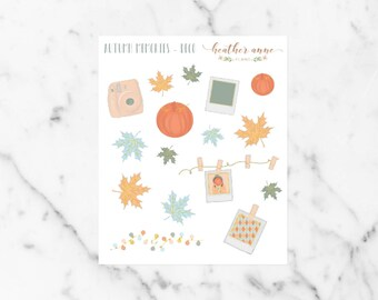 Autumn Memories Deco | Fall Weekly Planner Stickers