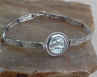 bracelet Greek meander silver 925 pantheon acropolis,jewellery womens, boho bracelet, jewellery sale easter gift birthday gift gift for her