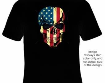 Big and TallT-Shirt American Skull