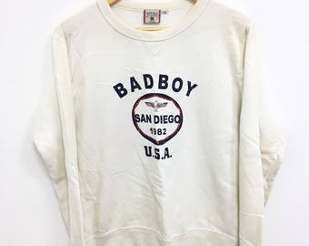 Vintage 90s Bad Boy Usa Big Logo Spell Out Rare Design Size Large