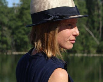 Straw Hat nature-dark blue