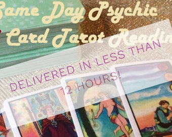 Same Day 3 Card Psychic Tarot Reading - 12 Hour Delivery - Experienced Reader - Relationship Ananlysis - Detailed! - GREAT VALUE!