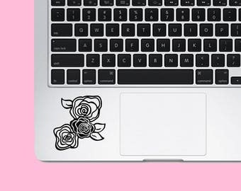 Cute Roses Vinyl Decal - Floral Sticker - Car Decal - Laptop Sticker - Gift for Her - Gift for Mom - Three Roses - Vinyl Decal Sticker