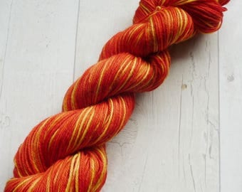 Pumpkin Pie DK 100g orange yellow yarn nylon wool double knit yarn knitting crochet hand dyed gift