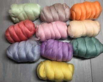 Think Spring - 10 colors  dyed merino - 250g total