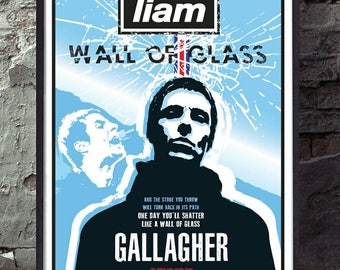 Liam gallagher. As you were. Oasis reimagined drawn unframed music print poster. Specially created.